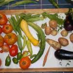 vertical garden harvest