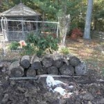 woody garden bed